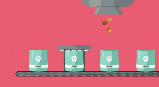 Produzione crocchette cani